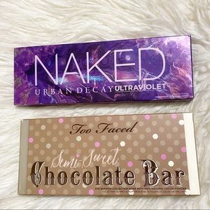 Urban Decay ultraviolet & too faced semisweet